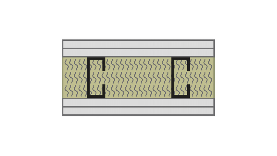 RFN-NA, optimized acoustics, sound blocking, alternate wall assembly STC 50 -2