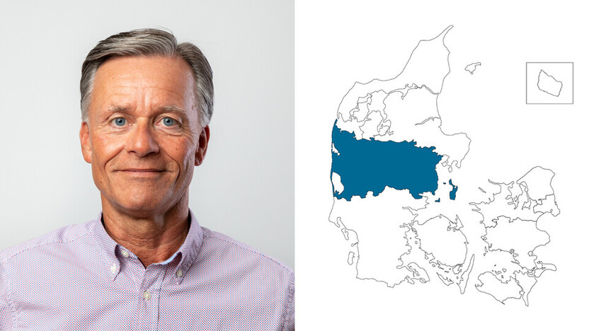 contact person, customer service, profile and map, western denmark, flemming jensen, DK