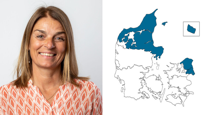 contact person, customer service, profile and map, eastern denmark, karina bak, DK