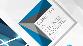 news article illustration, concept of ceilings, logo, young architects, rockfon, RU