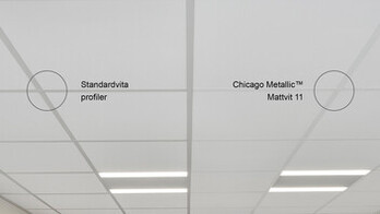 chicago metallic, matt white 11 vs standard white profiles, rockfon, SE