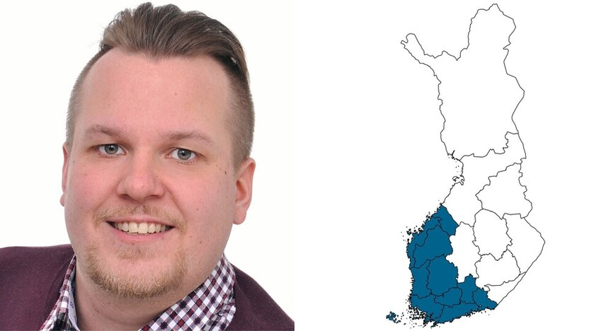 contact person, sales representative, profile and map, Tommi Loiri, rockfon, finland, FI
