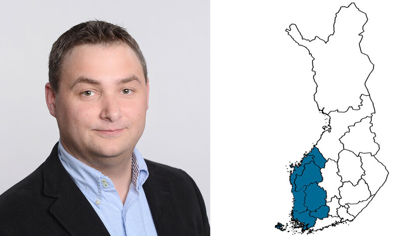contact person, sales representative, profile and map, Markus Salin, rockfon, finland, FI