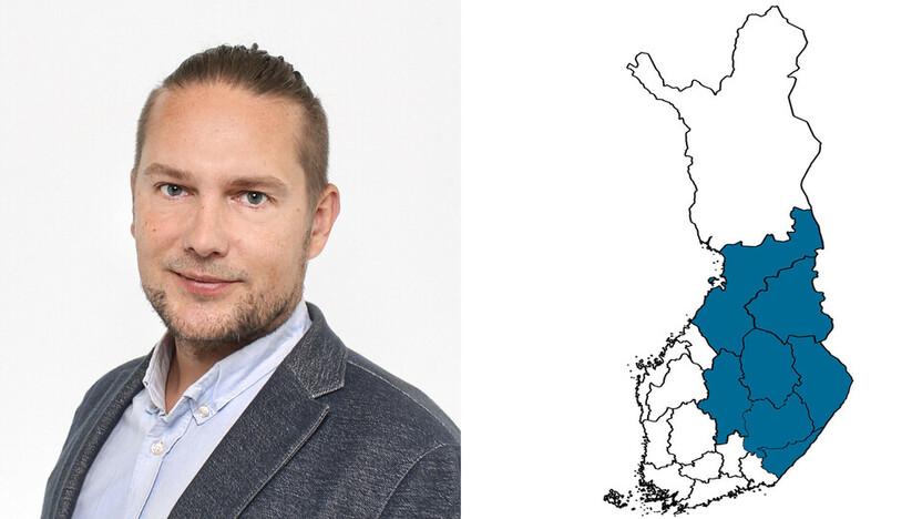 contact person, sales representative, profile and map, Tommi Kankkunen, rockfon, finland, FI