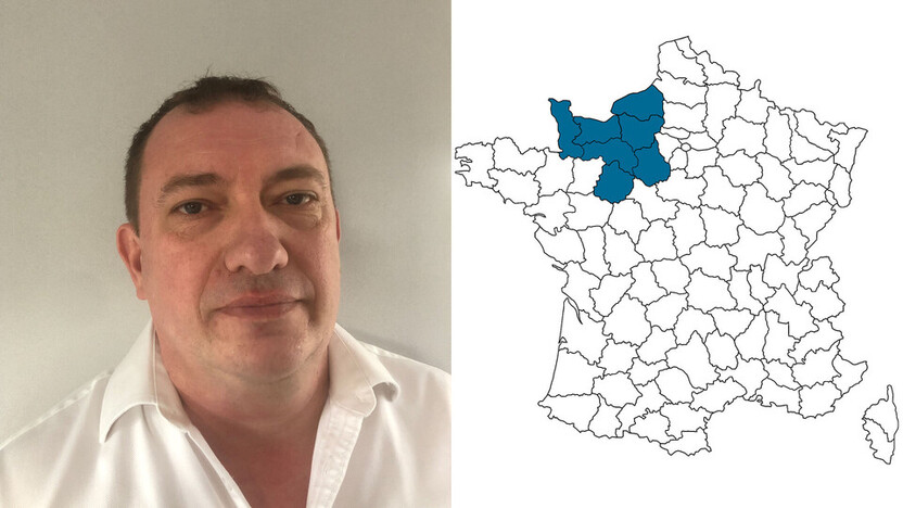 contact person, sales, profile and map, Stéphane Bailhache, rockfon, france, FR