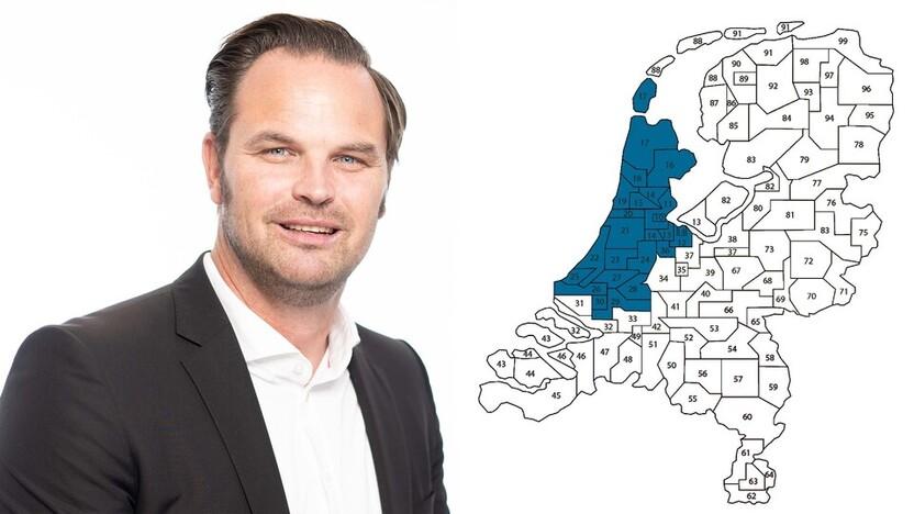 contact person, sales representative, profile and map, Jan de Jong , Rockfon, NL