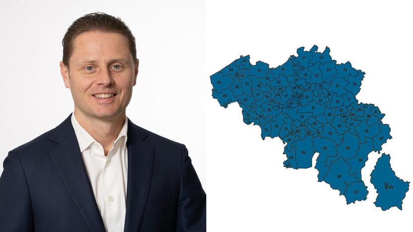 contact person, sales representative, profile and map, Steven de Bondt , Rockfon, BE