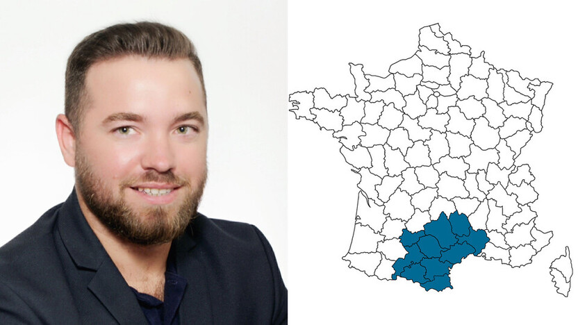 contact person, sales, profile and map, Olivier Monros, rockfon, france, FR
