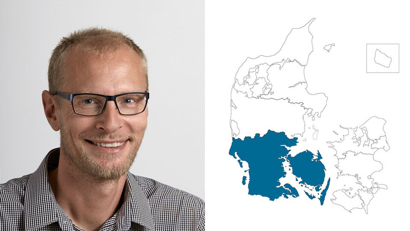 contact person, sales representative, profile and map, southern jutland, steffen melgaard, DK