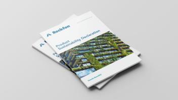 document cover, rockfon, product sustainability declaration