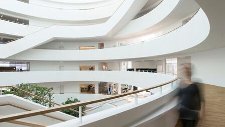 Big office in Copenhagen, Denmark, Rockfon Mono Acoustic, Industrial, Henning Larsen Architects, MTHøjgaard, Svend Christensen