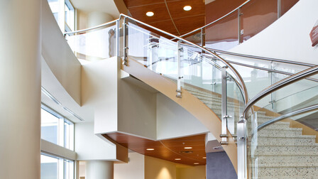 Infinity Perimeter Trim, Metalwood Finish, Planostile Snap-in Panels, Just Rite Acoustics, CTA Architects & Engineers, L'Heureux Page Werner PC Architects, Benefis Healthcare Heart Institute Patient Tower, J K Lawrence Photography, Interior
