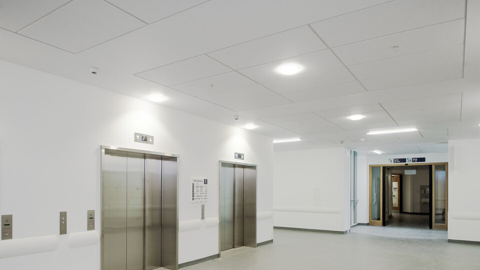 Featured products: Rockfon® MediCare® Standard, 1200 x 600