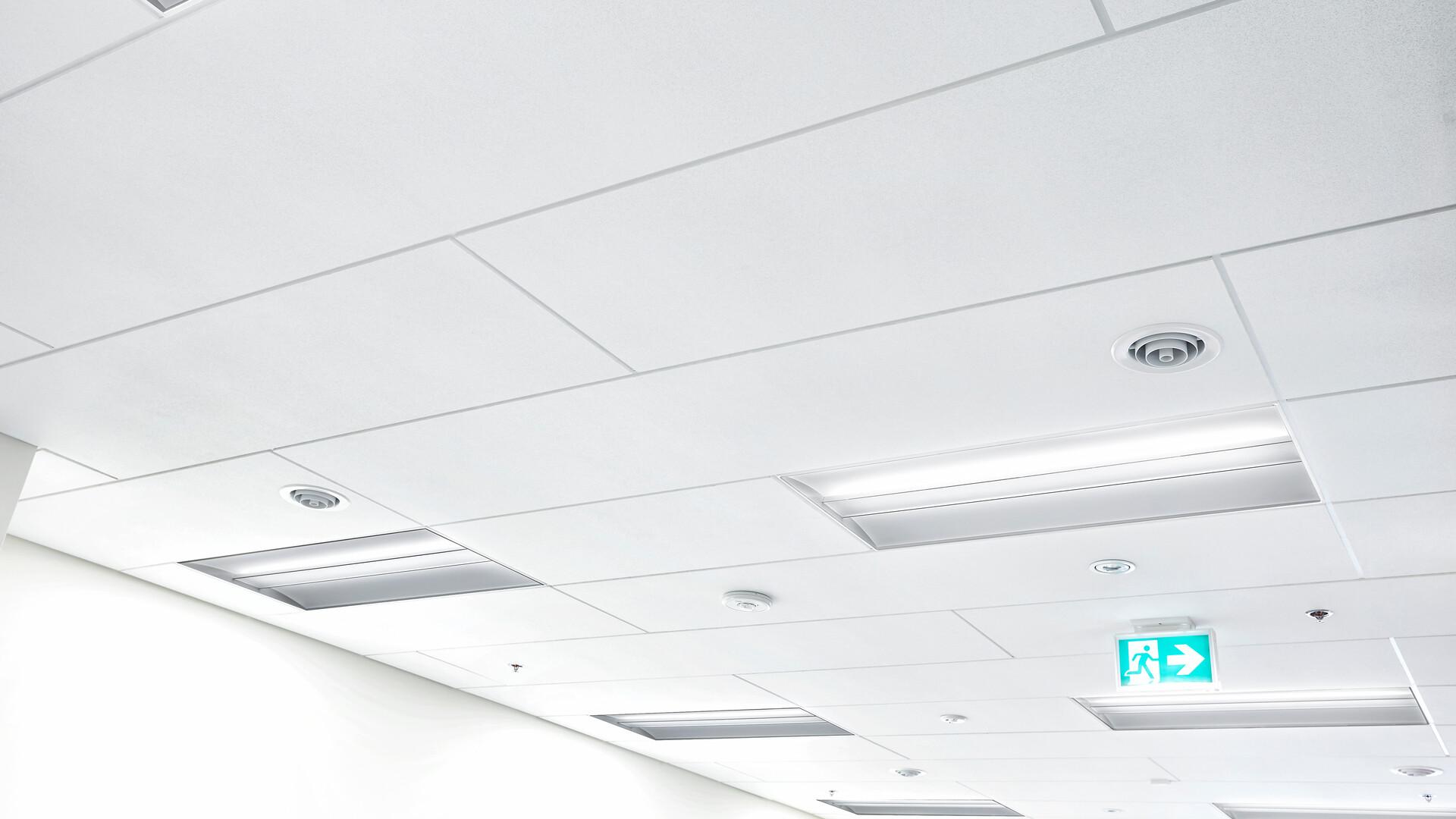 "Featured products: Rockfon Sonar® - Rockfon Alaska® - Rockfon® Color-all™ - Rockfon® Island™ - Rockfon® Cubegrid® Open Plenum 15/16"" Ceiling - Rockfon® Infinity™ Z Perimeter Trim - Rockfon® Intaline™ V-Base Metal Baffle Ceilings - Rockfon® Planar® and Planar® Plus Linear Ceilings"