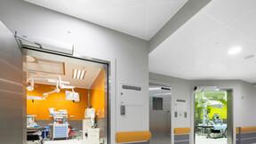 Hospital for Children,Poland,Warsaw,1500 m²,Chmielewski Skała Architekci,Bartosz Makowski,ROCKFON Medicare Block,A-edge,600x600,white