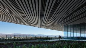 exterior, Planar, linear, metal, garden,