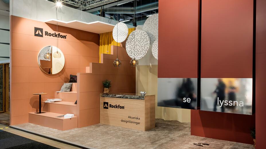 news article illustration, stockholm furniture fair, sff, 2019, rockfon stand, stockholm, sweden, tradeshow, SE