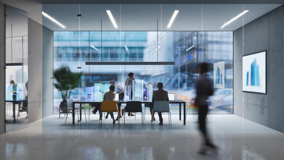 general illustration, people, meeting, meeting room, office