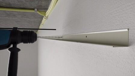 RFN-EA, chicago metallic, grid, installation, rockfon system t24 a, installation video frame, drill, drilling holes