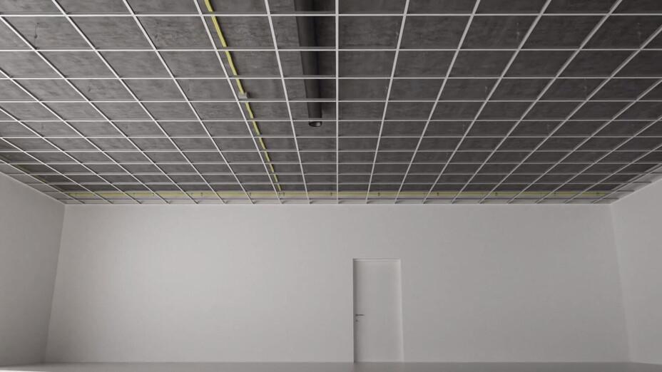 RFN-EA, chicago metallic, grid, installation, rockfon system t24 a, installation video frame, grid layout