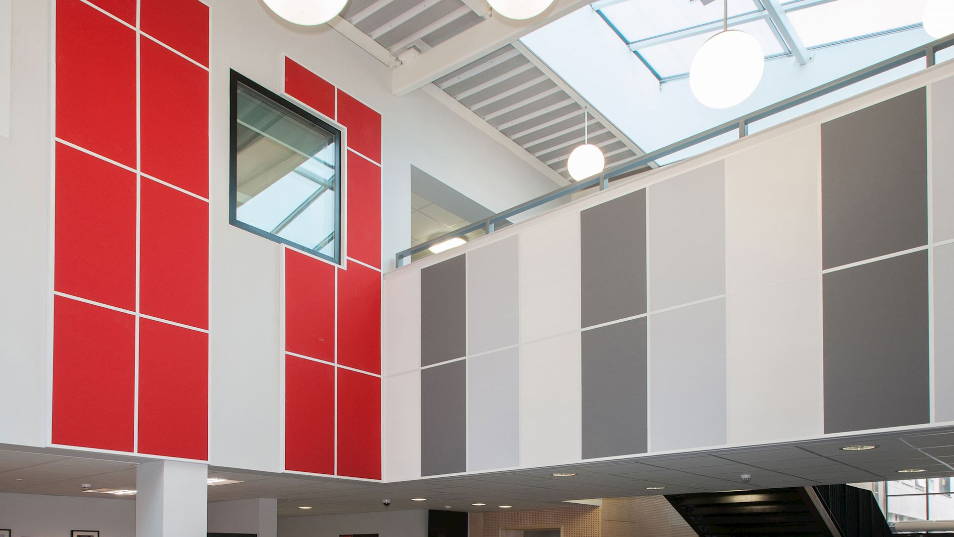 Acoustic wall panels with Rockfon Color-all wall panel (34 exclusive colours for acoustic wall solutions)